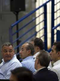 Calderón, García Luna y Earl Anthony Wayne- --Hermosillo