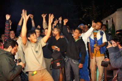 festejo de los 13 presos en el reno- FOTO Jaime Quintana Desinformémonos