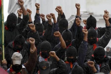 zapatistas w fists raised