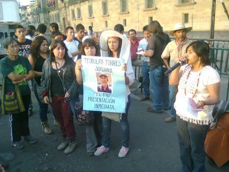 Marcha de Atenco, Zócalo, 4 de mayo de 2013