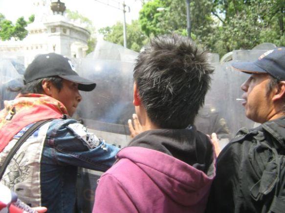 El Tío en el encapsulamiento de la marcha por la libertad de Victor Herrera Govea