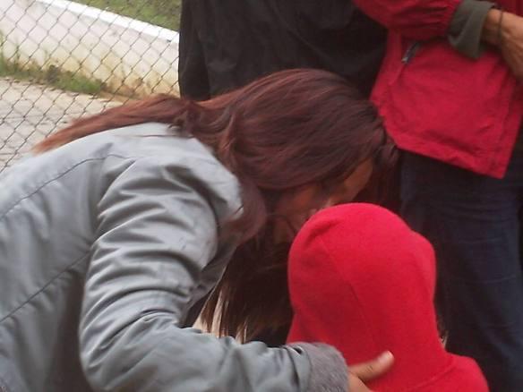 Rosa López en libertad--reencuentro con su hijo