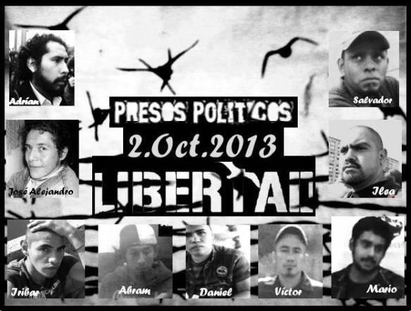 presos politicos 2 de oct