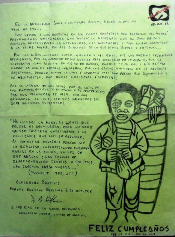 2 carta a Mumia de Alejandro Bautista