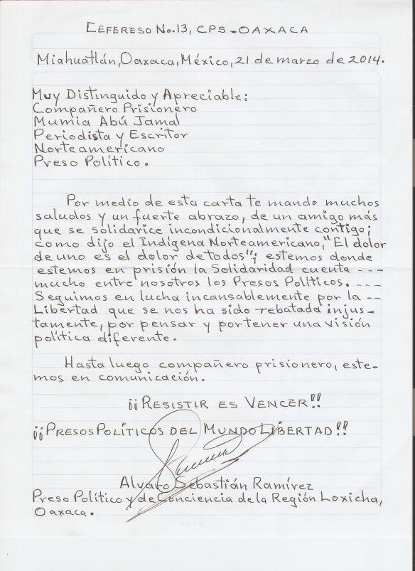 Carta a Mumia  de Álvaro