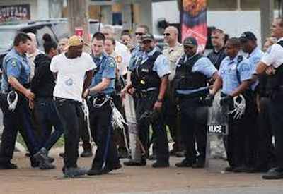 ferguson highway protest arrest