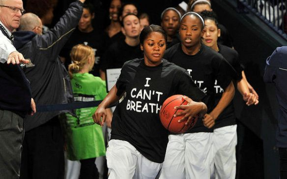 we can't breathe- notre dame women's basketball