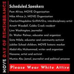 Scheduled speakers 13 mayo