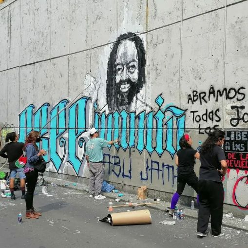 5oct2021-muralMumia-Brigada Cultural Subversiva